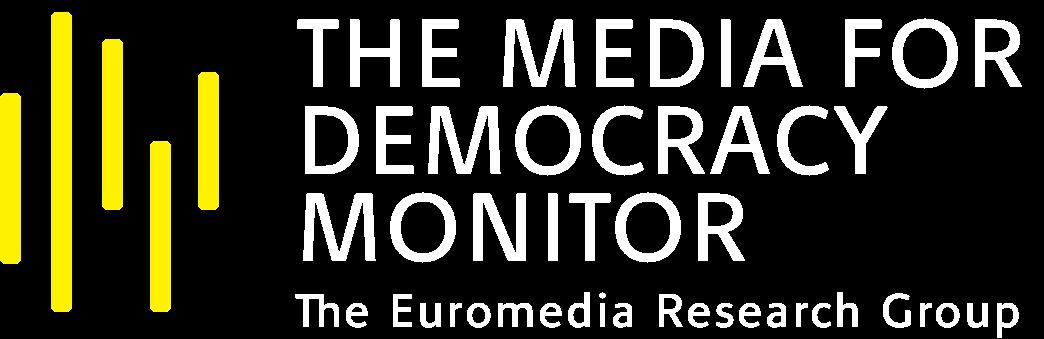 Media For Democracy Logo White